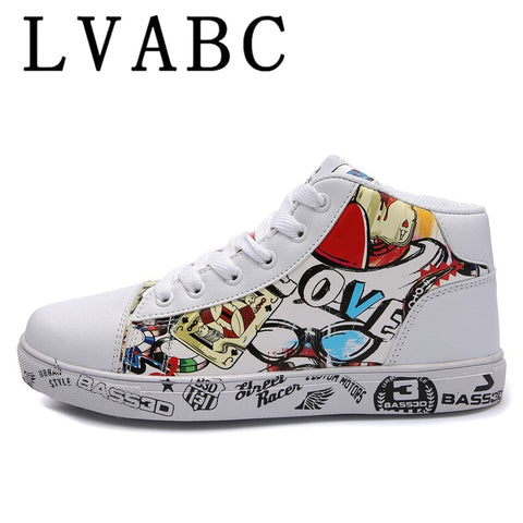 LVABC 2018 new spring tenis feminino lace-up white shoes woman PU Leather solid color female shoes casual women shoe Size 36-46 - shoescraze