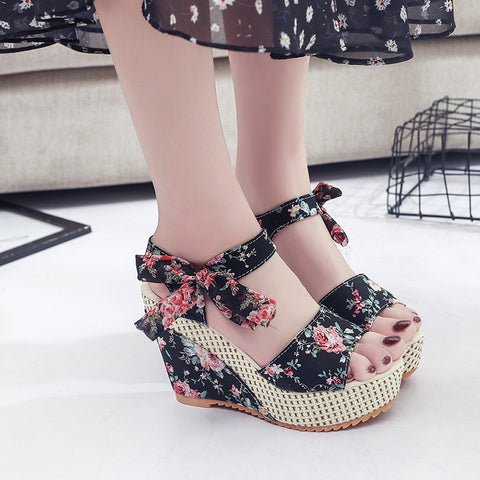 New Arrival Ladies Shoes Women Sandals Summer Open Toe Fish Head Fashion Platform High Heels Wedge Sandals Female Shoes Women - shoescraze