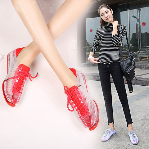 SWYIVY Crystal Sneakers Shoes Woman Autumn 2018 Female Stransparent Plastic Jelly Shoes Lady Casual Shoes Female Sneakers Shoes - shoescraze