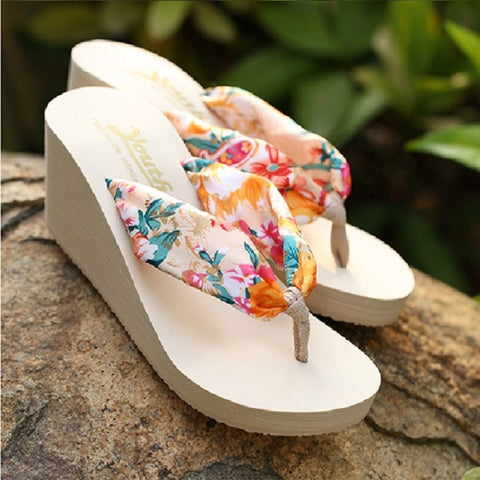 Summer Women Slippers Platform Wedge Shoes Sexy High Heel Sandals Leopard Flip Flops Female Slides Beach Shoes Zapatos Mujer - shoescraze