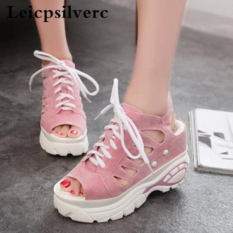 The new summer leisure lvkong fish mouth women shoes by high permeability with sponge women sandals - shoescraze