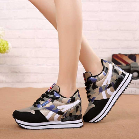 VTOTA Spring Designer Platform Sneakers Women Height Increasing Wedges Shoes Lace Up Women Basket Casual Shoes Tenis Feminino - shoescraze