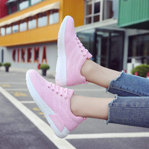 Women Casual Shoes Fashion Mesh Flat Platform Sneakers Tenis Feminino Walking Running Shoes Trainers Footwear Vulcanized Shoes - shoescraze