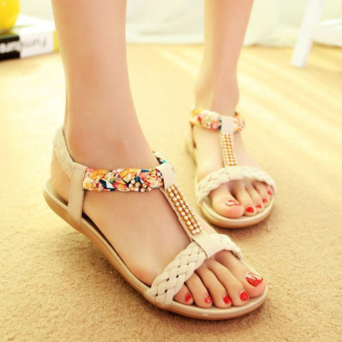 Women Sandals Summer Fashion Women Shoes Beach Sandals Ladies Comfortable Women Summer Shoes Female Flats Sandalias Mujer - shoescraze