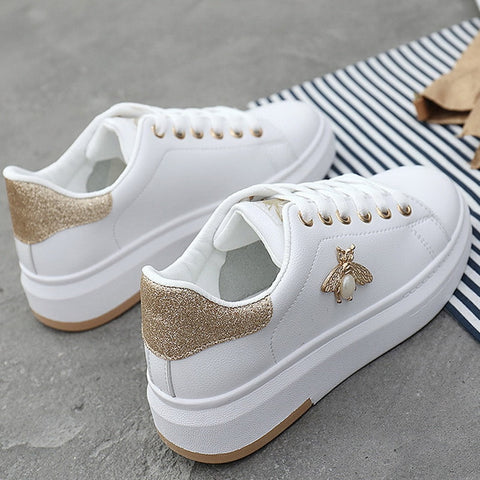 women Sneakers Casual shoes 2019 Leather Fashion Spring Summer Autumn Wedge Shoes For Women Creepers Female Slip on Sneakers - shoescraze