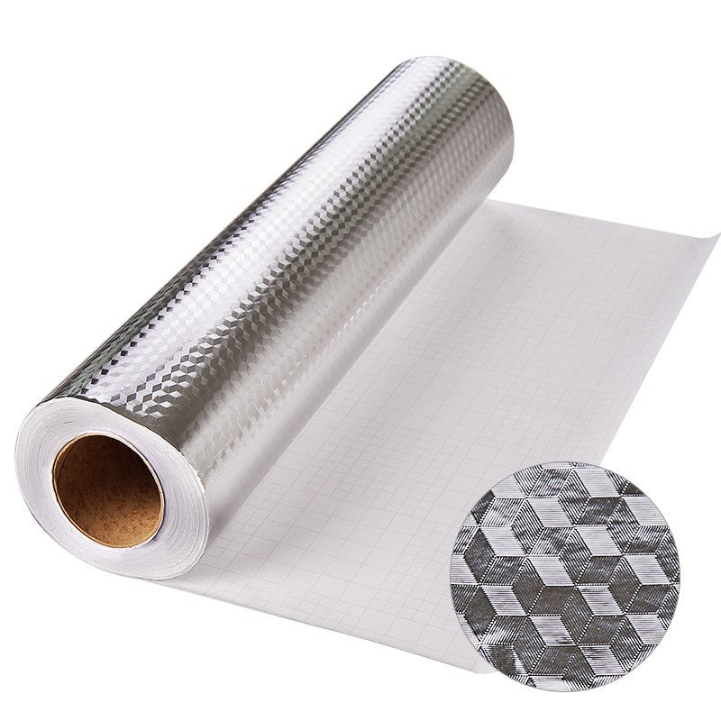 Self-adhesive thick aluminum foil kitchen wardrobe oil-proof moisture-proof sticker