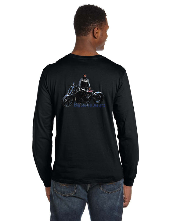 Big Steve's Designz Black Long Sleeve T-shirt