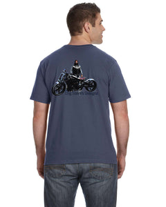 Big Steve's Designz Short Sleeve Marine Blue Tee