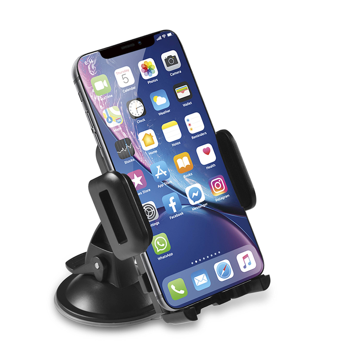 The 360° Windshield Phone Car Mount from Dausen can be used with all iPhones and all smartphones, perfect for navigation uses on the phone maps.