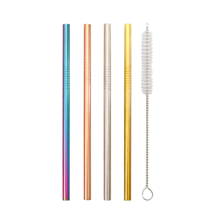 Perfect accessory for your cocktails or any drink at home or away, the Minis Stainless Steel Straws are a must have for any party or going out