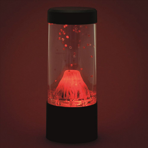 beautiful Volcano LED mood lamp soothes and calms as the lava bubbles move around the tank.