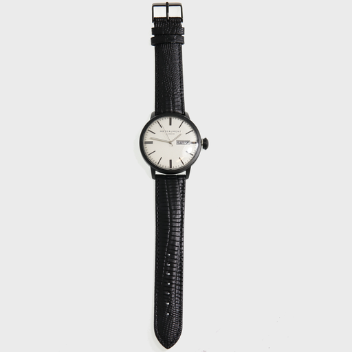 Get your unique signature with a beautifully designed watch, a timeless piece that will compliment any outfit, the Mr Beaumont Mens Watch - Matte Case MB1803.4 is a classic mens watch that consists of a metallic black case, a striking carbonised dial - all complemented by a genuine nappa stamped leather strap, in black. All tastefully presented in Mr Beaumont's trademark gift box and leather watch protector.