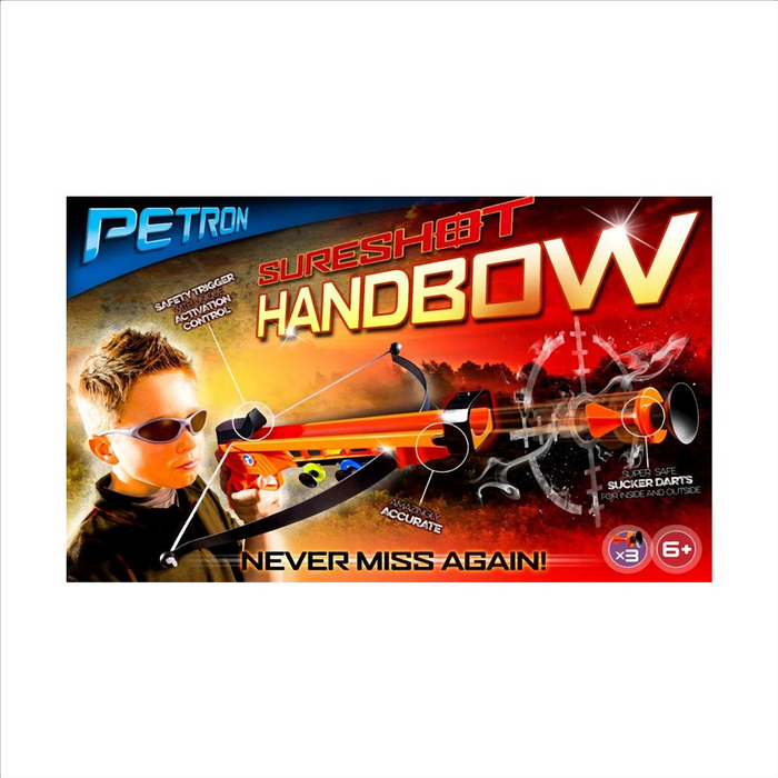 Petron Sureshot Handbow One hand crossbow Super safe sucker darts for inside and outside