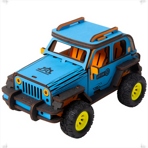 Robotime Off-Road Jeep Robud companion Amazing gift for kids Self-assembly inertia power vehicle