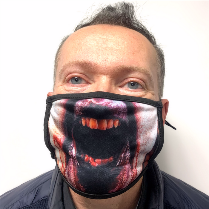 Scary Zombie Mask for face covering, something different with a big mouth open and blood.