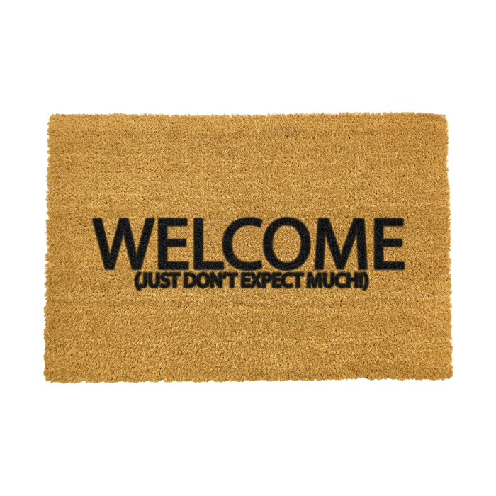Welcome Don't Expect Much Door Mat - B Cool 2