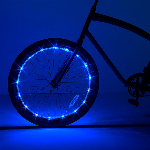 Wheel Brightz Blue Light up your bike wheel Includes 1 LED light string in weather-resistant tubing