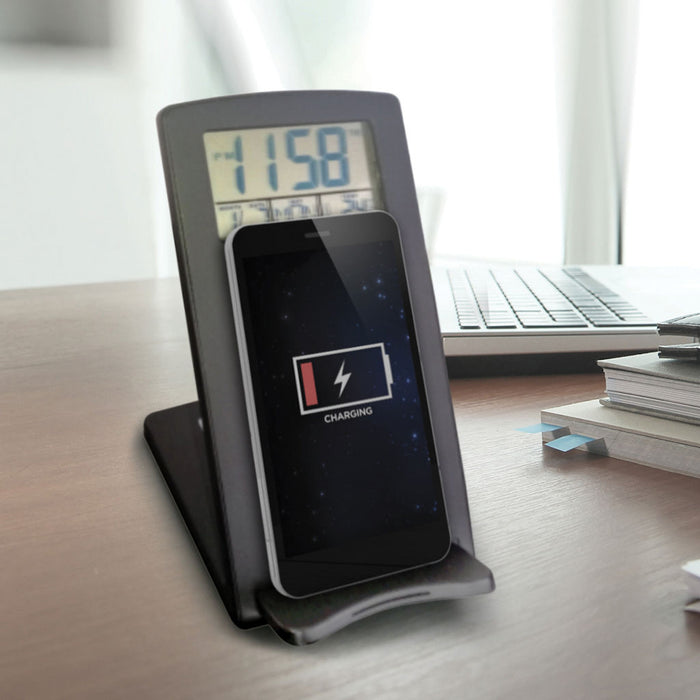 Wireless Phone Charger Alarm Clock - B Cool 2