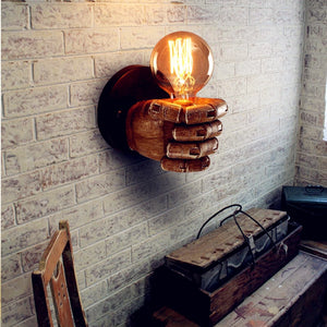 Vintage Resin Fist Wall Lamp