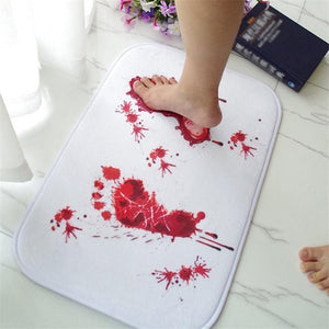Anti-slip Bloody Footprints Bath Mat