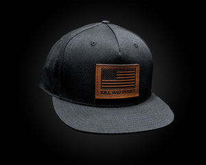 Leather KBD patch hat,