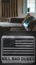 Load image into Gallery viewer, Fleece Sherpa blanket KBD print