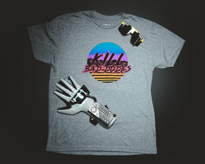KBD grey Tee, Miami Retro party