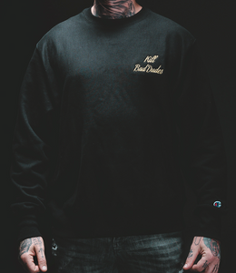 GOLD CREW NECK, black with KBD script