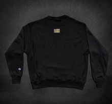 Load image into Gallery viewer, GOLD CREW NECK, black with KBD script