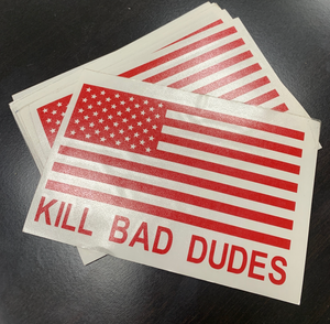 American flag KBD vehicle decal