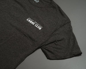 Canoe club black Tee Shirt,
