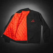 Load image into Gallery viewer, Bomber jacket, Black cordura with red satin inside,