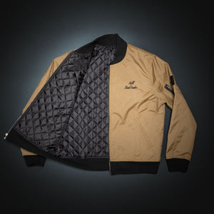 Bomber Jacket, Coyote brown Cordura, black satin inside