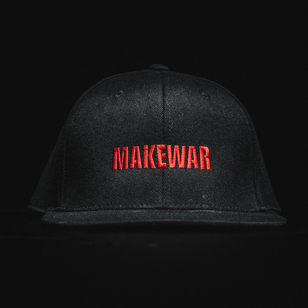 Make war hat, black flex for snap back
