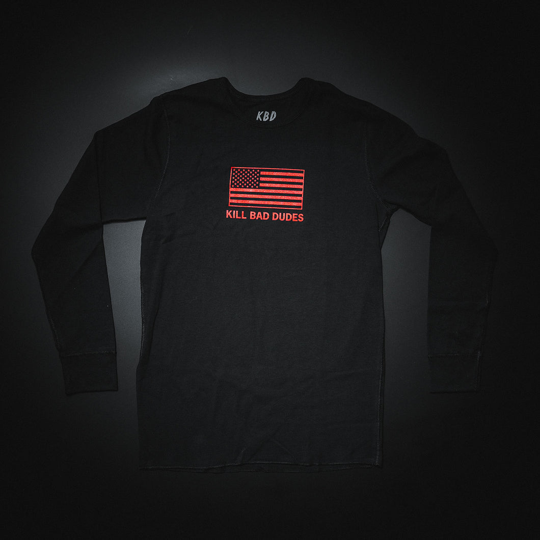 Thermal red flag long sleeve