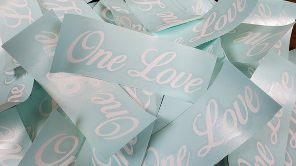 "One Love 7"" Vinyl Sticker"