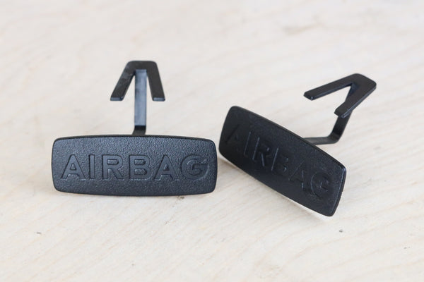 Airbag Emblems - B Pillar - Black