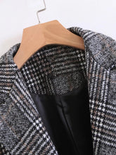 Load image into Gallery viewer, Single Button Plaid Reefer Coat