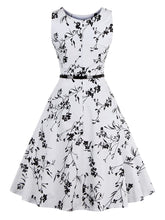 Load image into Gallery viewer, All Over Florals Circle Dress With Belt