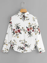 Load image into Gallery viewer, Random Botanical Print Blouse