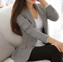 Load image into Gallery viewer, Womens Slim Fit Checkered Blazer