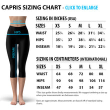 Load image into Gallery viewer, White Marble w/ Black Gold Lines Capri Leggings