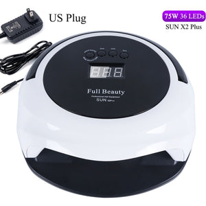 75W Memory Timer Nail Dryer Led UV Portable