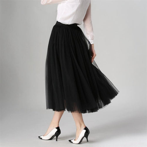 Three Layers Tulle Skirts