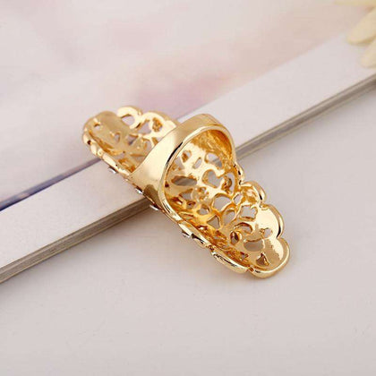 Fashion Exaggeration Hollow Carving Alloy Drill Ring - 24/7 bestdeals