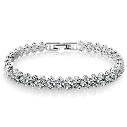 Fashion Diamond Crystal Luxury Ladies Bracelet - 24/7 bestdeals