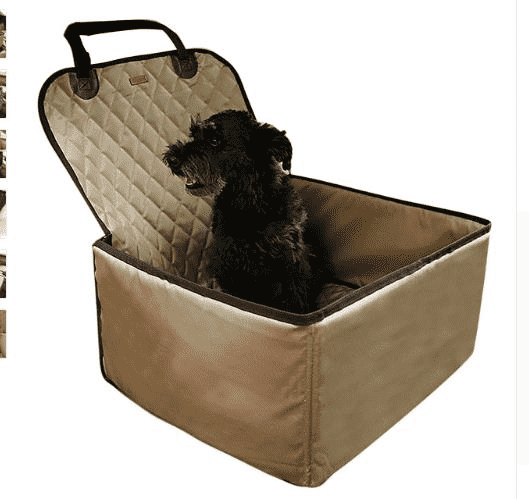 2 in 1 Pet Carrier Bucket Basket Waterproof Single Pet Dog Car Carrier Bag Car Seat Cover Protector Front Seat Car Mat