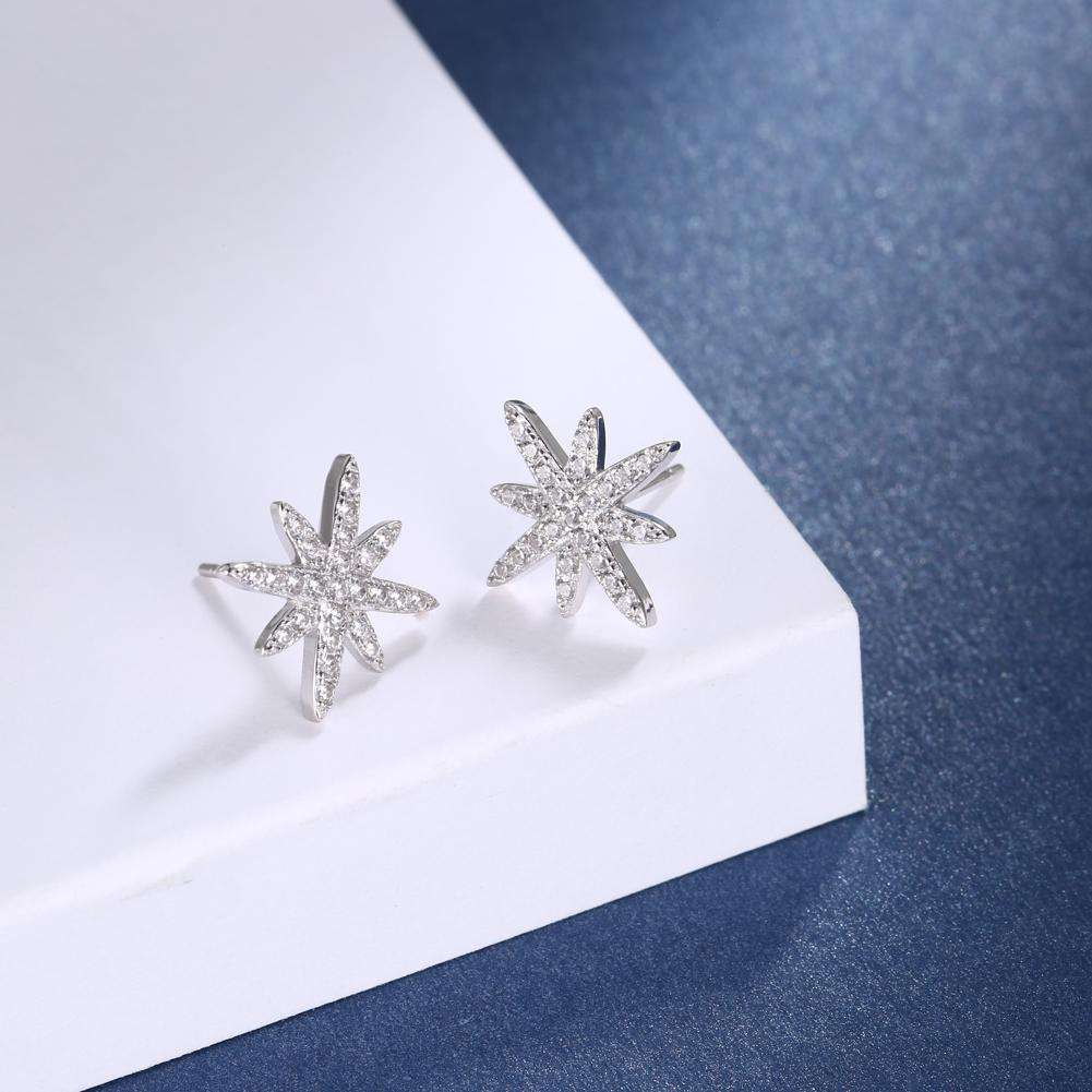 S925 Sterling Silver TYL M Shape Earrings