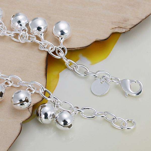 Jingle Bracelet Silver Globe Chain Bracelet