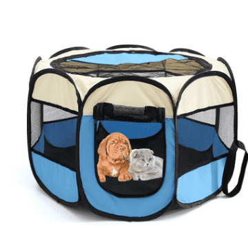 Fast folding octagonal pet fence, 600D Oxford cloth, waterproof and catching cat, dog cage, pet cage